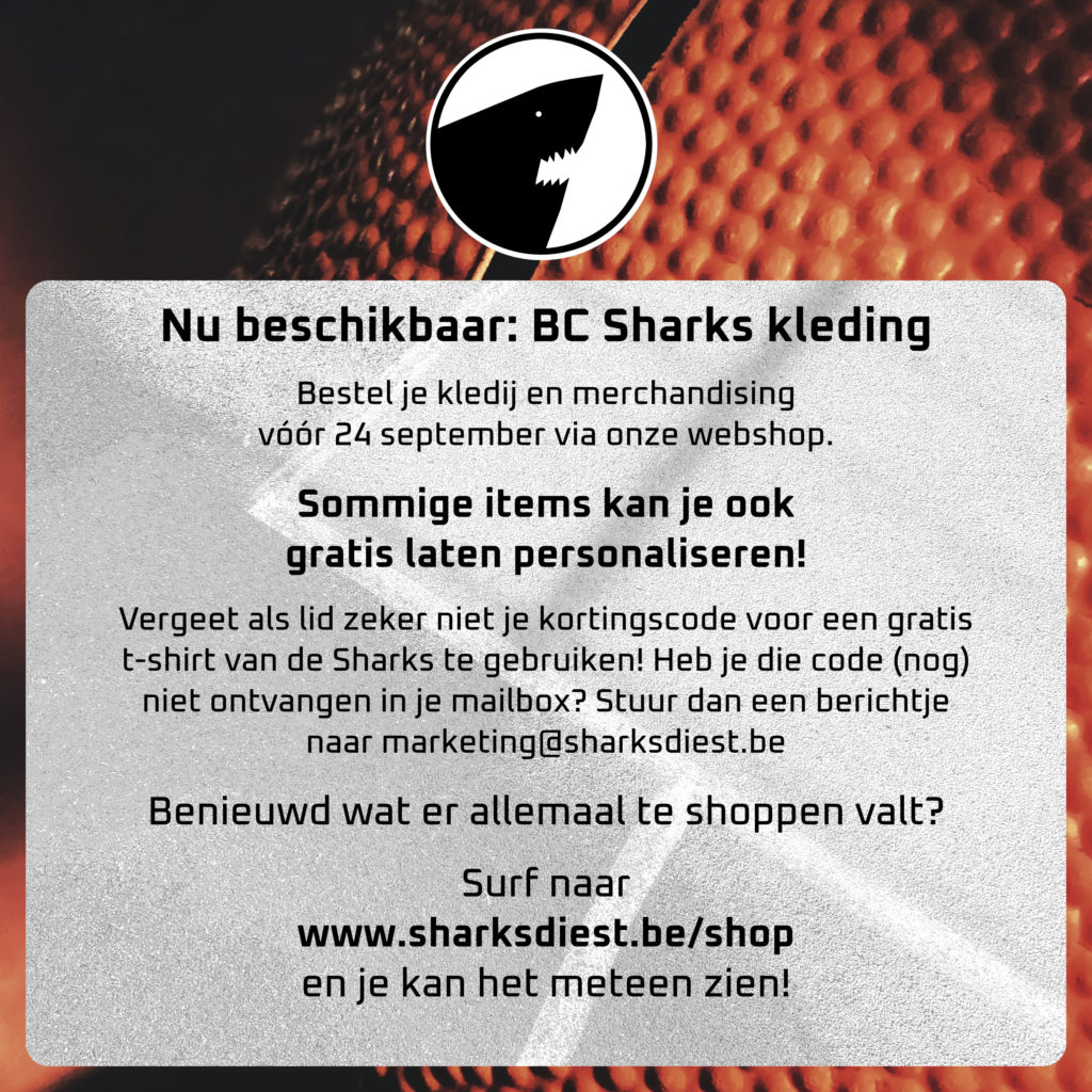 Koop nu je Sharks merch! Verlengd tot 3 oktober